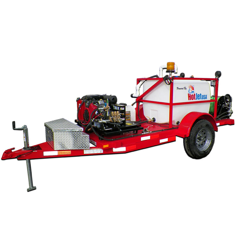 Tractor Water Drain : Trailer mounted cold water sewer drain line jetter